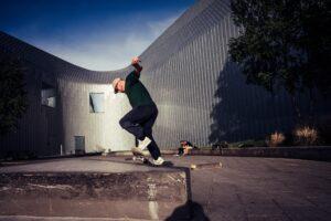 riverside museum skateboarder in glasgow