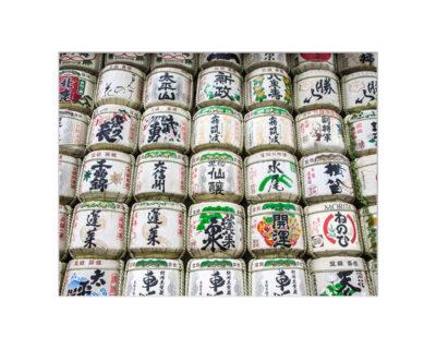 tokyo sake barrels