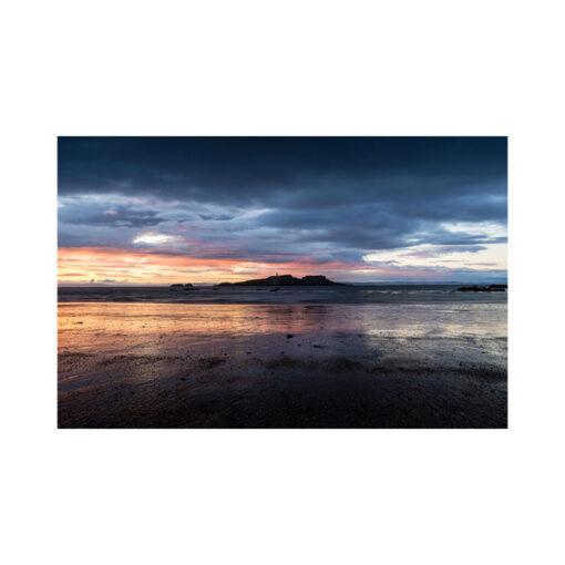 fidra island sunset
